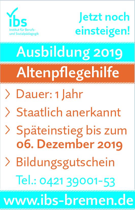 Ausbildung Altenpflegehelferin / Altenpflegehelfer