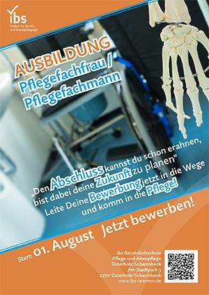 Plakat Ausbildung Pflegefachfrau/Pflegefachmann in OHZ